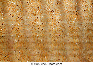 Small tan red mosaic tiles