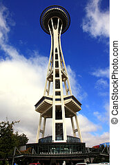 Seattle Space Needle Tower, Washing - The Seattle Space...