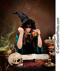 Poison apple witch