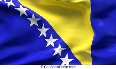 Creased BOSNA HERZEGOVINA FLAG - Highly detailed flag with...