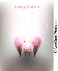 angel - Decorative Christmas background with angel and...