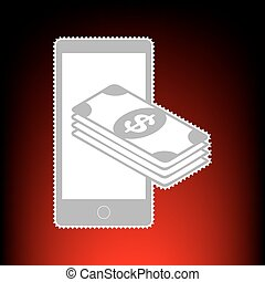 Payment, refill your mobile smart phone,. Postage stamp or...