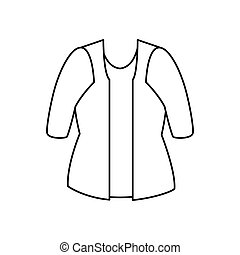 female clothes isolated icon