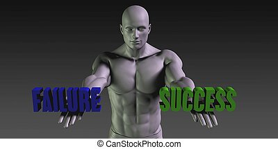 Success or Failure as a Versus Choice of Different Belief