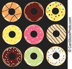 donuts - vector donuts background
