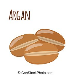 Argan fruit. Herbal cosmetics, eco therapy. Natural product....