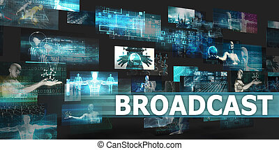 Broadcast Presentation Background with Technology Abstract...