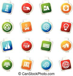 Alternative energy icons set - Alternative energy color icon...