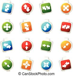 Arrows icons set - Arrows color icon for web sites and user...