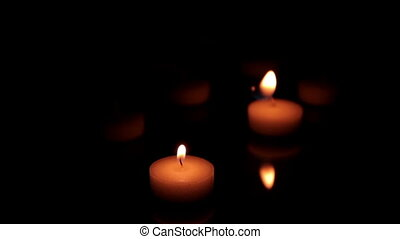 Candles lighting on the table