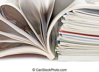 Magazine isolated on white background