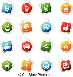 Public transport icons set - Public transport color icon for...