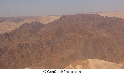 flying over the desert mountains - Shot of flying over the...