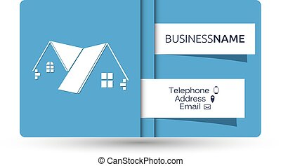 Business card for real estate and construction of houses...