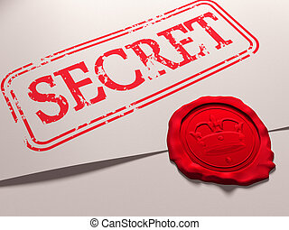 Secret document - Illustration of a secret document with a...