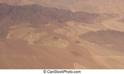 flying over the desert - Shot of flying over the desert