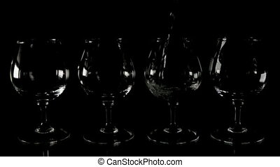 Fill wineglass on the table - Fill wineglass - real time...