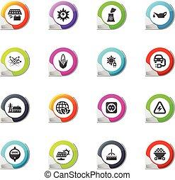BIO Fuel industry icons set - BIO Fuel industry pointer on...
