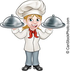 Woman Chef Cartoon Character