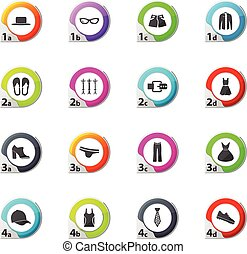 Clothing Store Icons set - Clothes web icons for user...