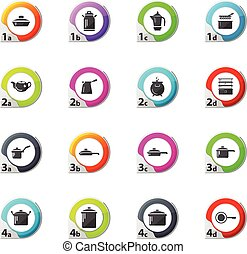 Dishes Icons set - Dishes web icons for user interface...