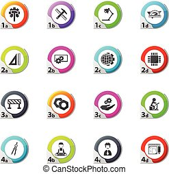 Engineering icons set - Engineering web icons for user...