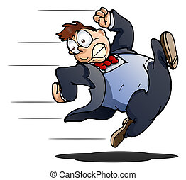 business man running - illustration of a business man...