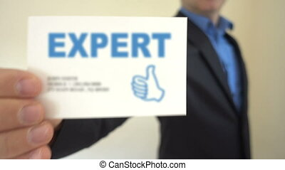 Expert present Business Card - Shot of Expert present...