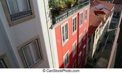 European rooftop in Lisbon - Shot of European rooftop in...