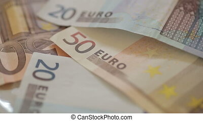 Euro currency money bills - Shot of Euro currency money...