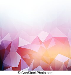 Abstract low poly design - Abstract background with a low...