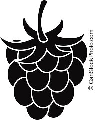 Raspberry or blackberry icon, simple style - Raspberry or...