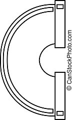 Water pipe icon, outline style - Water pipe icon. Outline...