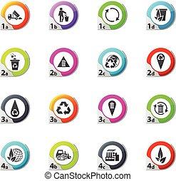 Garbage icons set - Garbage web icons for user interface...