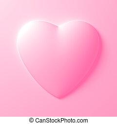 White Heart Shape On White Background. 3D Illustration.