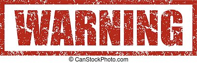 Rubber stamps with word warning inside. Vector illustration