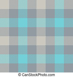 Blue gray check plaid seamless pattern. Vector illustration....