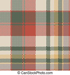 Burlap tartan fabric texture check seamless pattern. Vector...