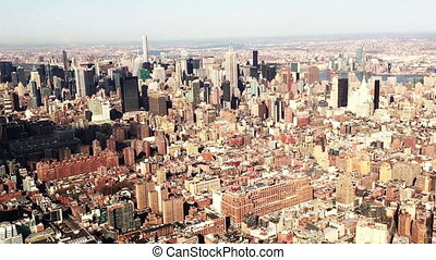 Downtown Manhattan Aerial View - Shot of Downtown Manhattan...