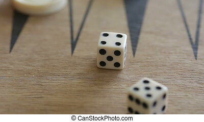 Double four on dice - Shot of Double four on dice
