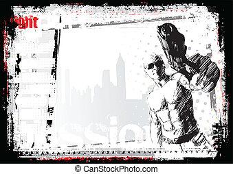 gunner background - sketching of the gunner