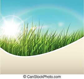 Spring natural background, green and sunny