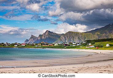 Beach Lofoten archipelago islands beach - Beach Lofoten...
