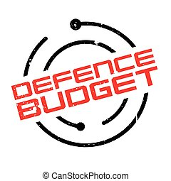 Defence Budget rubber stamp. Grunge design with dust...