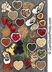 Aphrodisiac Health Food - Aphrodisiac health food selection...