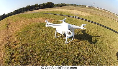 Shot of drone with camera attached - Shot of Shot of drone...