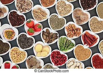 Aphrodisiac Health Food - Aphrodisiac health food in heart...