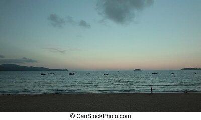Ocean Scene Sunset Time Lapse Vietnam - A time lapse beach...