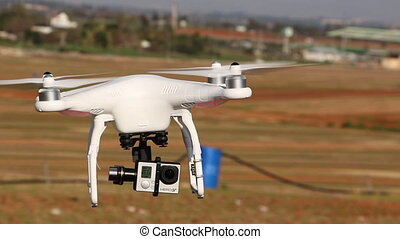Drone with camera attached fly