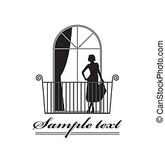 Beautiful woman 1 - Illustration of a woman\'s silhouette. A...